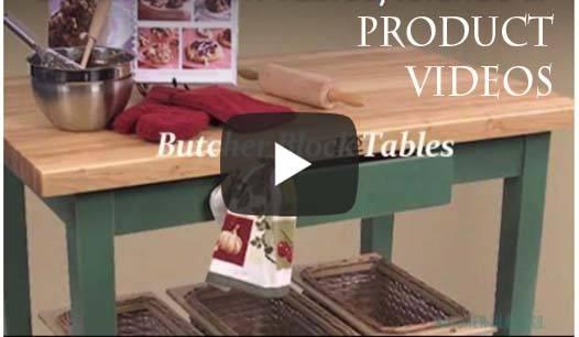 videos of butcher block furniture