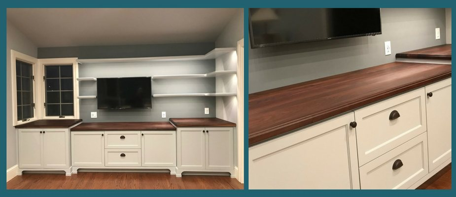 walnut plank butlers pantry