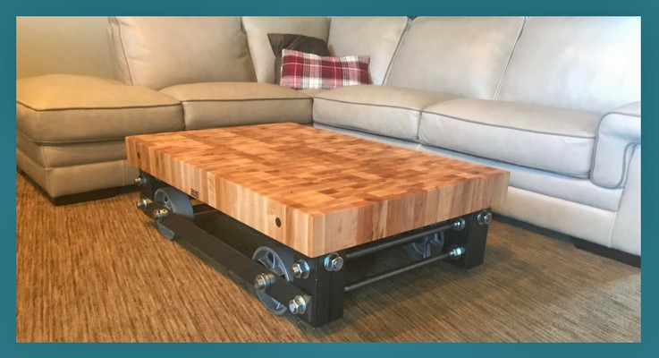 maple end grain butcher block top