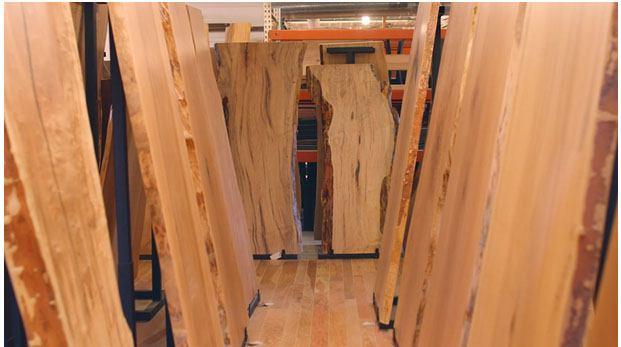 live edge wood slabs video