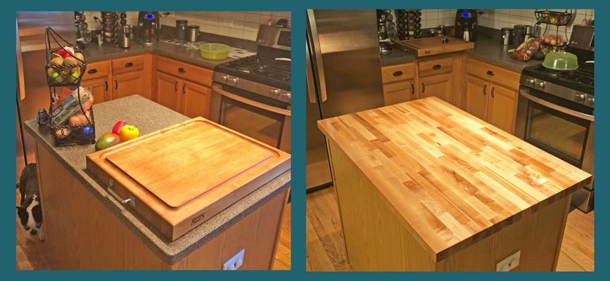 blended maple countertop