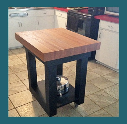 American cherry  butcher block island top