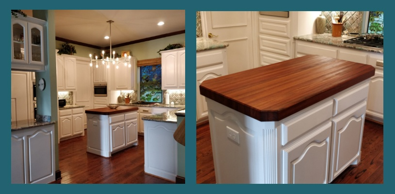 Brazilian cherry  butcher block island top