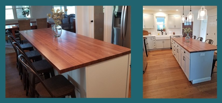 Walnut Edge Grain Island Top