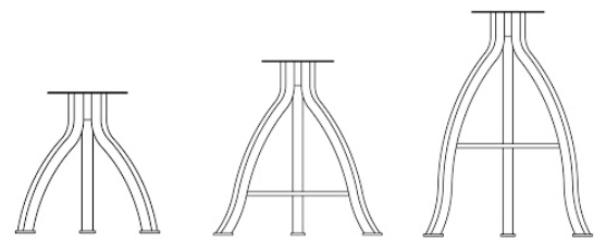 Foundry Collection Pub Style Dining Stools