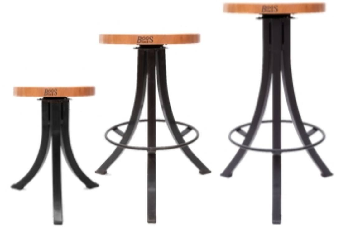 John Boos Foundry Collection Bistro Style Stools