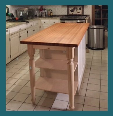 oak butcher block island top