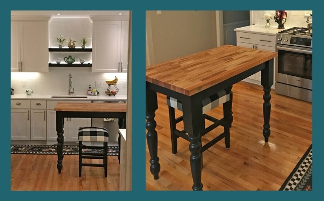 Boos blended maple kitchen island