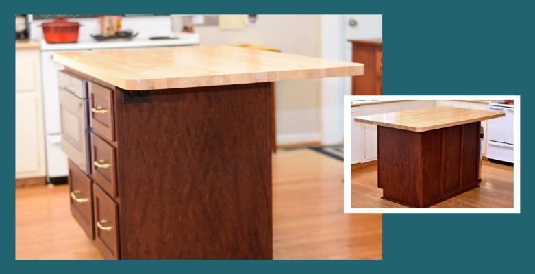 Boos maple edge-grain kitchen island