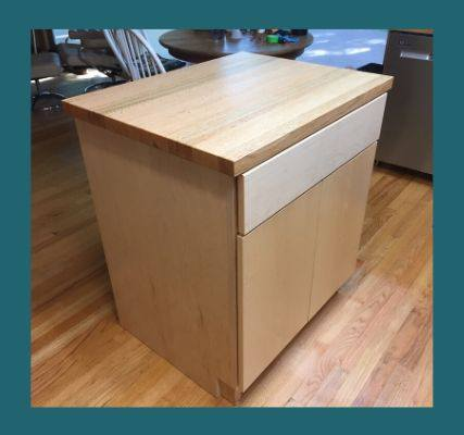 red oak kitchen island top