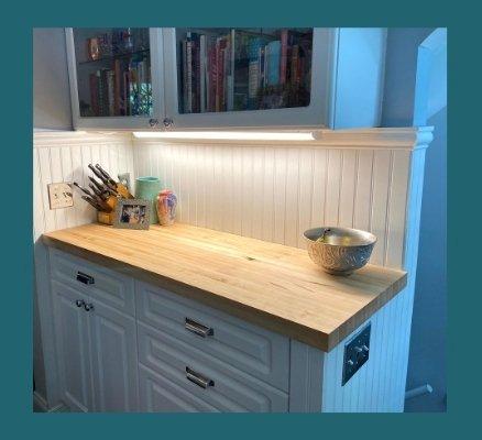 maple edge-grain countertop