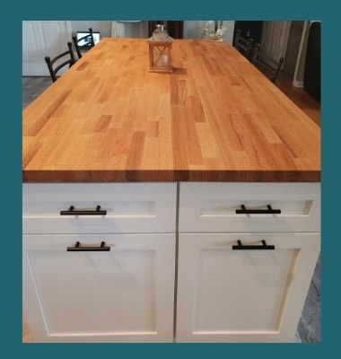 maple edge-grain countertop varnish