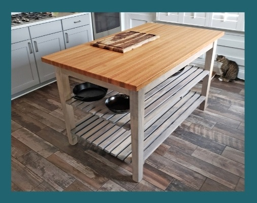 boos oak country work table useful gray