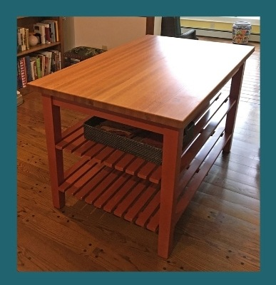 boos oak country work table