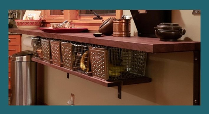 walnut custom shelves