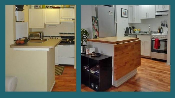 maple blended grain countertop