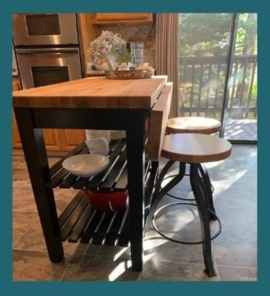 breakfast bar and pub style stools