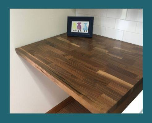 walnut butcher block for laundry room