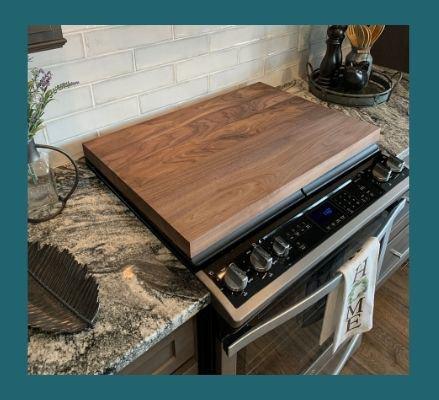 custom-size walnut plank cutting board