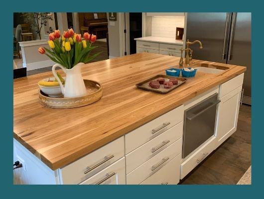 hickory plank kitchen island