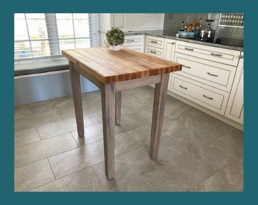 Blended Walnut Country Work Table