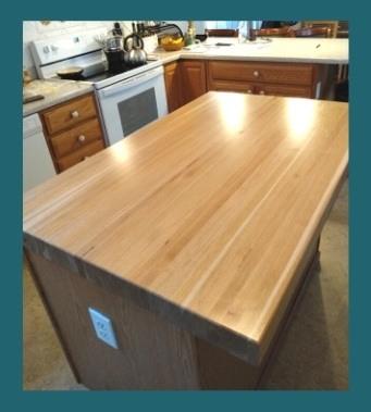 Birch kitchen island top