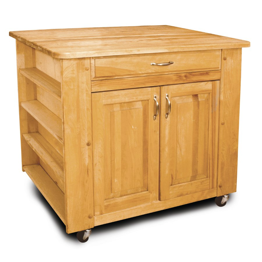 Deep Storage Rolling Kitchen Island - Catskill mpn 64024