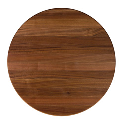 Boos round walnut edge-grain butcher block table top