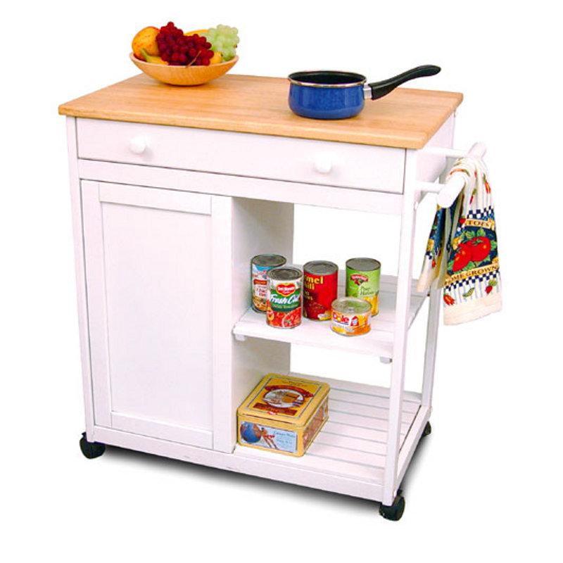 Catskill Preston Hollow Kitchen Cart with White Base 80030