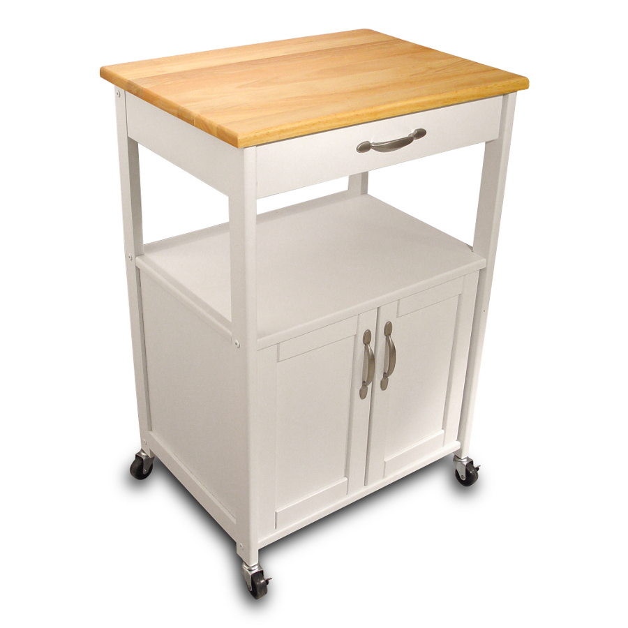 Catskill Open Shelf White Kitchen Trolley   23