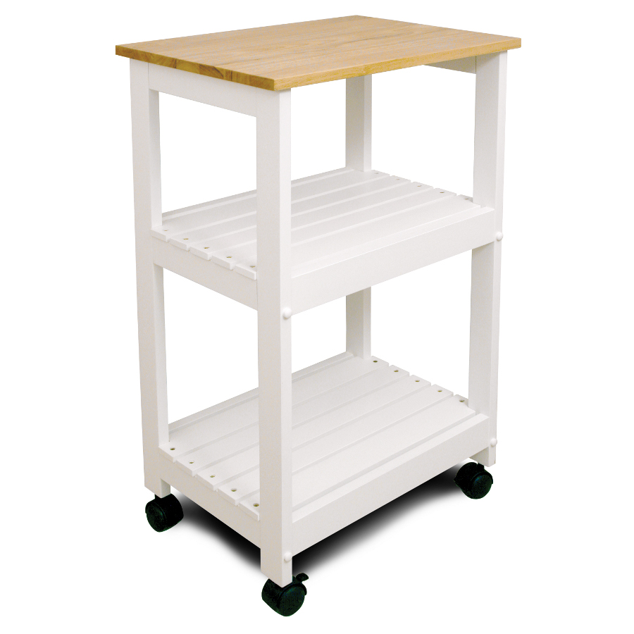 White Kitchen Utility Cart Trolley By Catskill Craftsmen