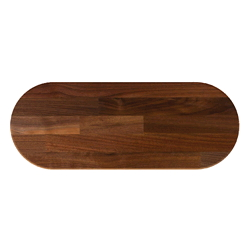 Boos Oval Blended Walnut Butcher Block Table Tops & Bases (Optional)