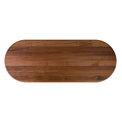 John Boos Oval Walnut Edge Grain Butcher Block Table Tops & Bases