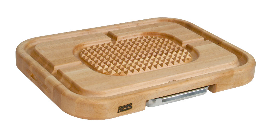 John Boos Aztec Pyramid Design Carving Board with Juice Groove