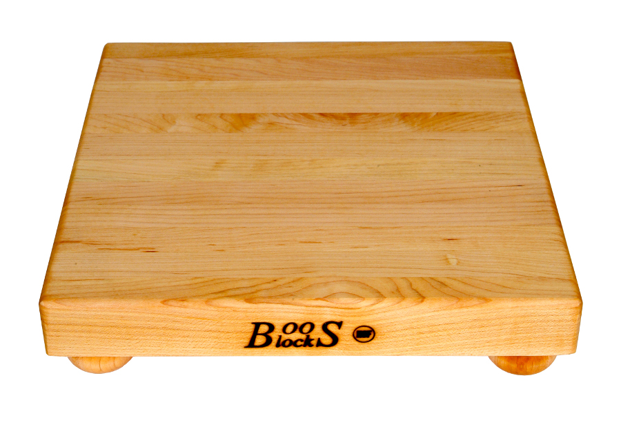 John Boos Small Maple Cutting Board with Bun Feet - 9
