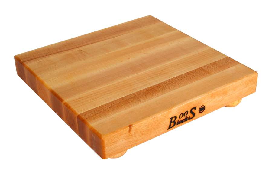 wood bun feet on Maple Edge Grain Cutting Board B12S