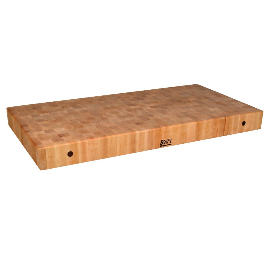 7 in. thick maple butcher block counter 32