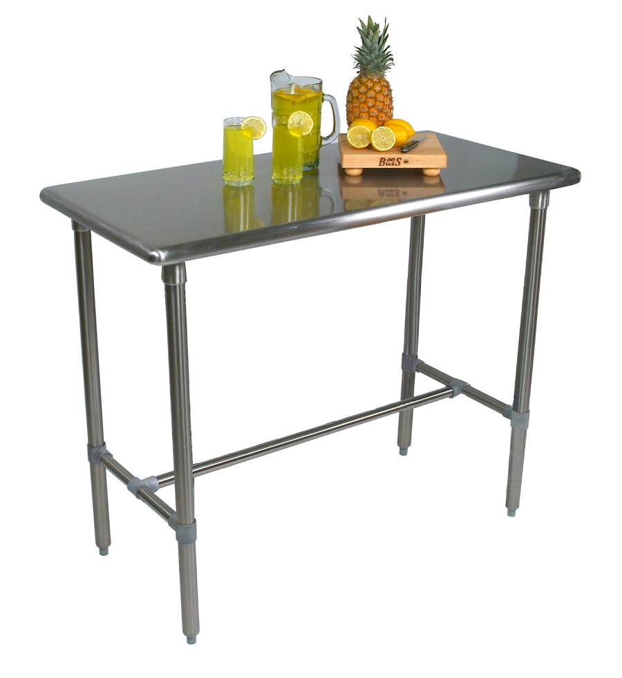 John Boos Cucina Classico Stainless Steel Serving Table, 36