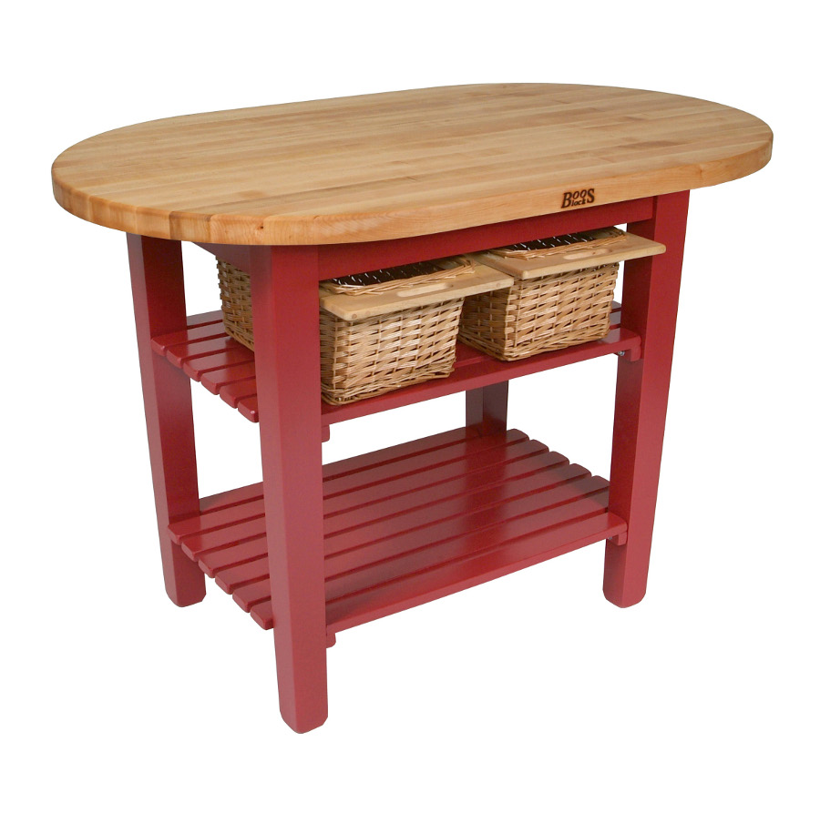 John Boos Elliptical Butcher Block Table C Elip