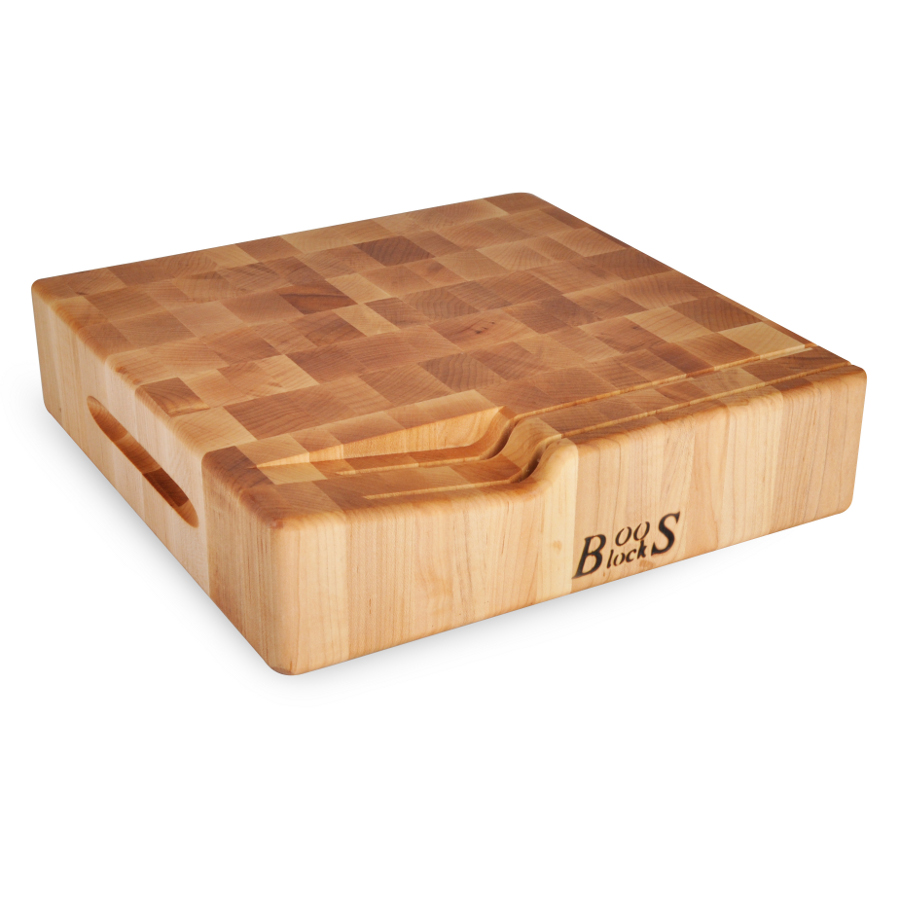 Boos End Grain Maple Chopping Block with Knife Slots