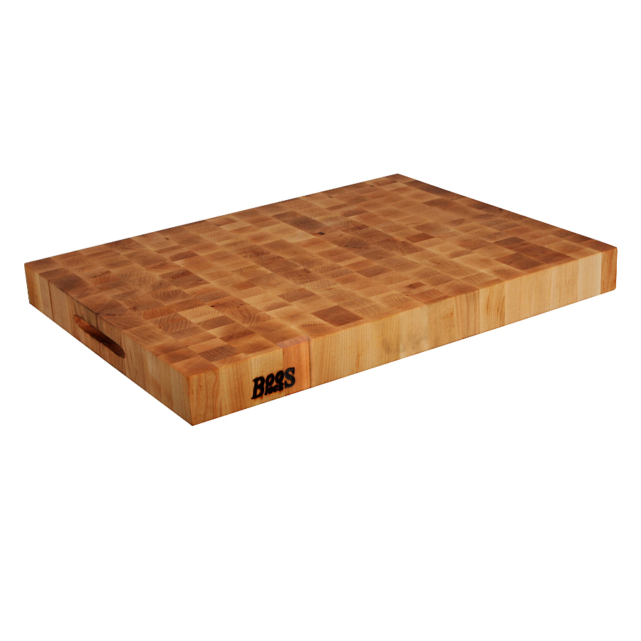 John Boos Maple End Grain Chopping Board with Hand Grips