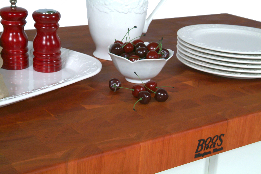 38 in. wide cherry end grain counter 4 inches thick