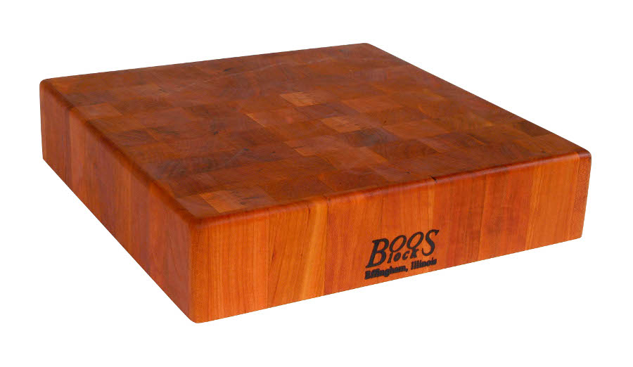 John Boos Square Cherry Chinese Chopping Block CHY-CCB143-S