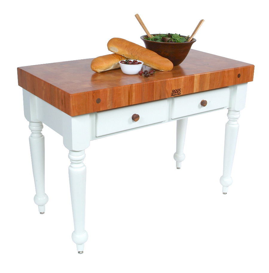 Cherry Top Rustica Butcher Block Table CHY-CUCR-AL