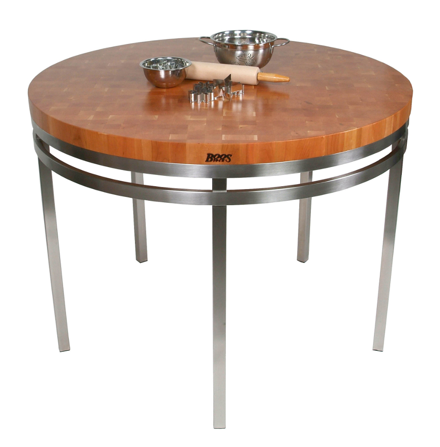 30 Inch Round Kitchen Table John Boos Butcher Block Table Kitchen Tables