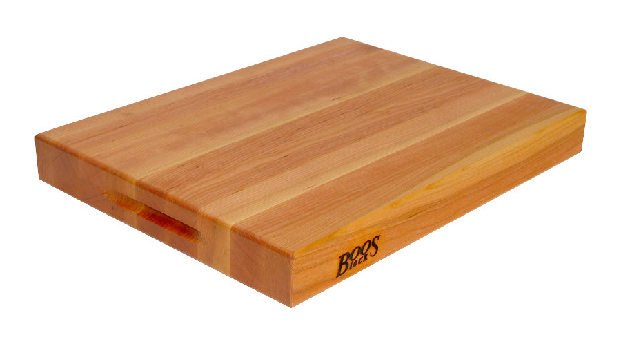 John Boos Cherry Cutting Board with Hand Grips 2.2 inches thick