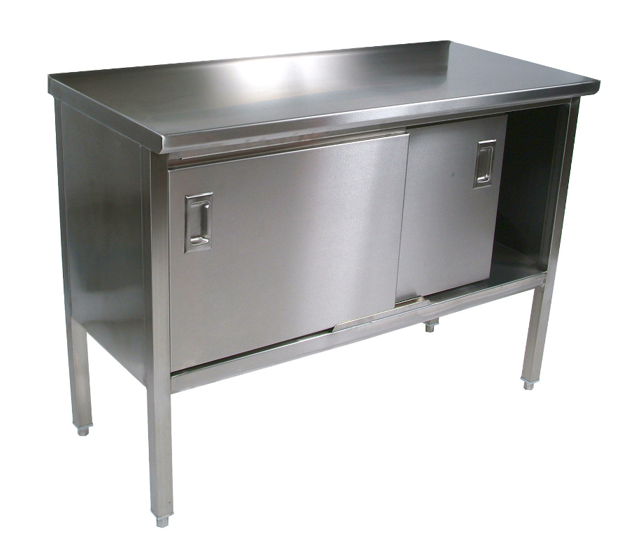 Stainless Steel Work Table | Enclosed Base Cabinet