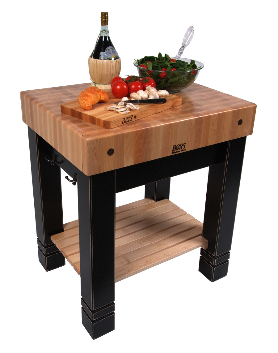 Butler's Butcher Block on black legs