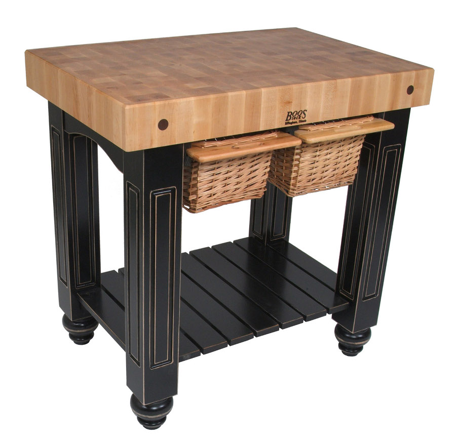 CU-GB3624-BK John Boos Maple End Grain Butcher Block Table