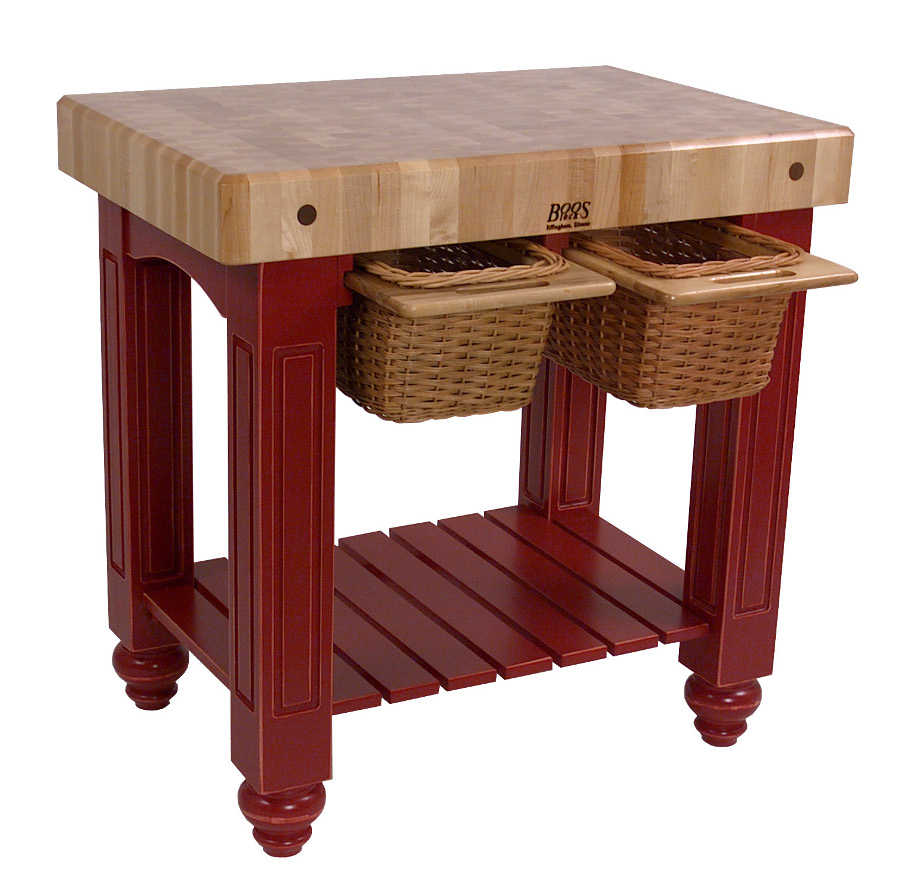 Gathering Butcher Block II with 2 baskets